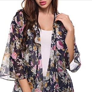 Boho Floral Printed Cover Up 🌹